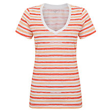 Buy John Lewis Slub Cotton V-Neck Stripe T-Shirt Online at johnlewis.com