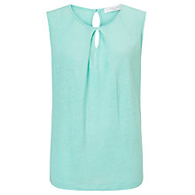 Buy John Lewis Linen Keyhole Sleeveless Top Online at johnlewis.com