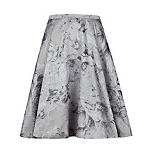 Buy Ted Baker Floral Jacquard Skirt, Light Grey Online at johnlewis.com
