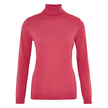 Buy Viyella Bobble Roll Neck Jumper, Rose Online at johnlewis.com