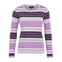 Buy Viyella Graduated Stripe Wool Jumper, Lavender Online at johnlewis.com