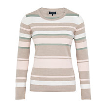 Buy Viyella Petite Stripe Merino Jumper, Ivory Online at johnlewis.com