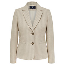 Buy Viyella Textured Jersey Jacket, Stone Online at johnlewis.com