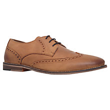 Buy KG by Kurt Geiger Baggio Wingtip Lace Up Shoes, Tan Online at johnlewis.com