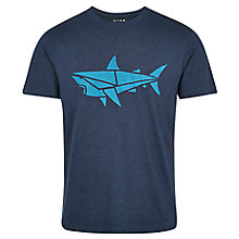 Buy HYMN George Shark Print T-Shirt, Navy Online at johnlewis.com