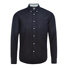 Buy HYMN Dover Dip Dye Shirt, Indigo Online at johnlewis.com