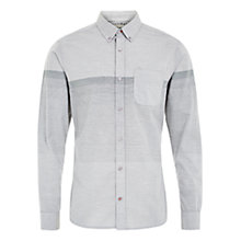 Buy HYMN Southsea Jacquard Gradient Shirt, Sky Online at johnlewis.com