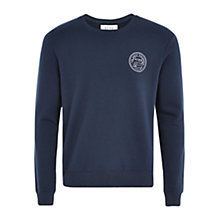 Buy HYMN Deal Logo Print Sweatshirt, Blue Online at johnlewis.com