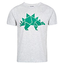 Buy HYMN Stanley Dinosaur T-Shirt, Grey Marl Online at johnlewis.com