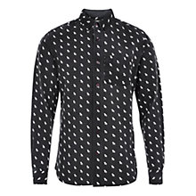 Buy HYMN Newquay Deck Chair Shirt, Black Online at johnlewis.com