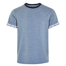 Buy HYMN Hastings Mini Dot T-Shirt, Cornflower Blue Online at johnlewis.com