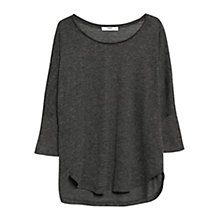 Buy Mango Dolman Sleeve Top, Dark Grey Online at johnlewis.com