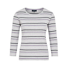 Buy Viyella Graduated Stripe Jersey Top, Grey Marl Online at johnlewis.com