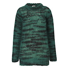 Buy Whistles Corinne Space Dyed Mohair Jumper, Green Online at johnlewis.com