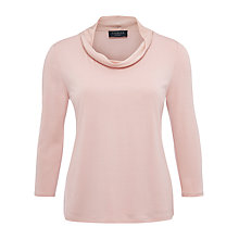 Buy Viyella Petite Collar Jersey Top, Powder Pink Online at johnlewis.com