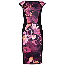 Buy Ted Baker Retro Geo Dress, Pink/Black Online at johnlewis.com