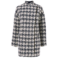 Buy Phase Eight Yasmine Dogtooth Coat, Navy / Ivory Online at johnlewis.com