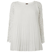 Buy Phase Eight Ruth Pleat and Crochet Blouse, Ivory Online at johnlewis.com