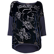 Buy Phase Eight Hailey Devore Panel Jumper, Ink Online at johnlewis.com