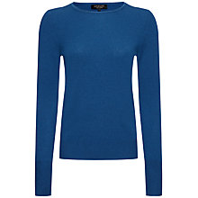 Buy Jaeger Cashmere Crew Neck Jumper, Peacock Online at johnlewis.com