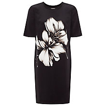 Buy Whistles Placement Floral Dress, Black Online at johnlewis.com
