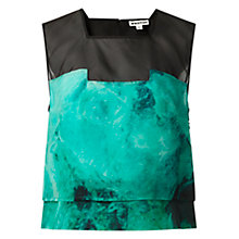 Buy Whistles Smoke Print Top, Green / Multi Online at johnlewis.com