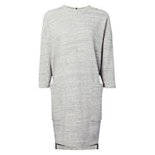 Buy Whistles Hana Cotton Jumper Dress, Grey Online at johnlewis.com