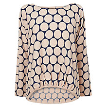 Buy Phase Eight Sariah Spotted Knit Jumper, Pink/Ink Online at johnlewis.com