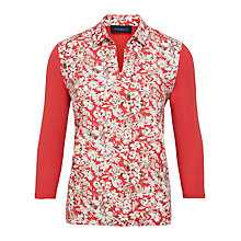 Buy Viyella Floral Print Jersey Top, Red Online at johnlewis.com