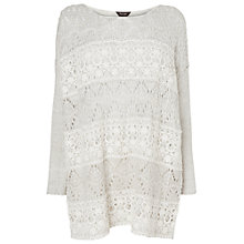 Buy Phase Eight Emanuella Lace Jumper, Silver Online at johnlewis.com