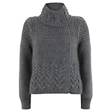 Buy Mint Velvet Charcoal Stitch Coatigan, Grey Online at johnlewis.com
