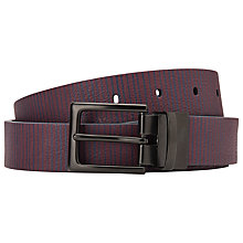 Buy Kin by John Lewis Reversible Stripe Leather Belt Online at johnlewis.com