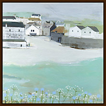 Buy Hannah Cole - Wild Garlic by the Sea Framed Print, 40 x 40cm Online at johnlewis.com