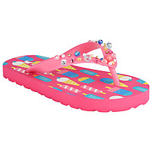 Buy John Lewis Lollipop Glitter Flip Flops, Pink Multi Online at johnlewis.com