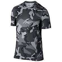Buy Nike Pro Combat Hypercool Camo Print Fitted 2.0 T-Shirt, Anthracite/Charcoal Online at johnlewis.com