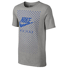 Buy Nike Air Max Graphic Print T-Shirt, Grey Online at johnlewis.com