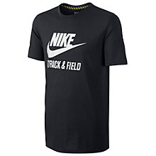 Buy Nike Track and Field Running T-Shirt, Black/White Online at johnlewis.com