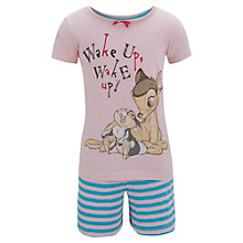 Buy Disney Bambi Shortie Pyjama Set, Pink Online at johnlewis.com