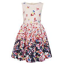 Buy John Lewis Girl Floral Border Dress, Multi Online at johnlewis.com