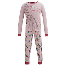 Buy Disney Cinderella Dreams Can Come True Pyjamas, Pink Online at johnlewis.com