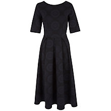 Buy Closet Floral V Back Full Dress, Black Online at johnlewis.com