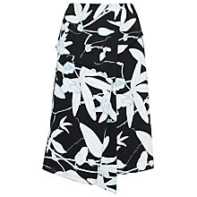 Buy Whistles Botanical Floral Skirt, Black/White Online at johnlewis.com