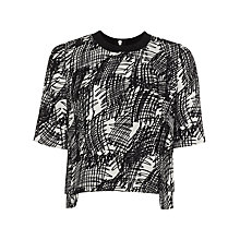 Buy Whistles Tillie Scribble Top, Black/White Online at johnlewis.com