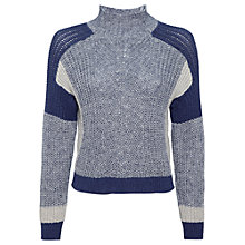 Buy Whistles Colour Block Jumper, Denim Online at johnlewis.com