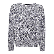 Buy Whistles Textured Zip Back Knit Jumper, Blue/Multi Online at johnlewis.com