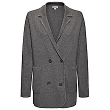 Buy Whistles Doubled Breasted Knitted Blazer, Grey Online at johnlewis.com