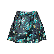 Buy Wolf & Whistle Floral Brocade Skirt, Green Online at johnlewis.com