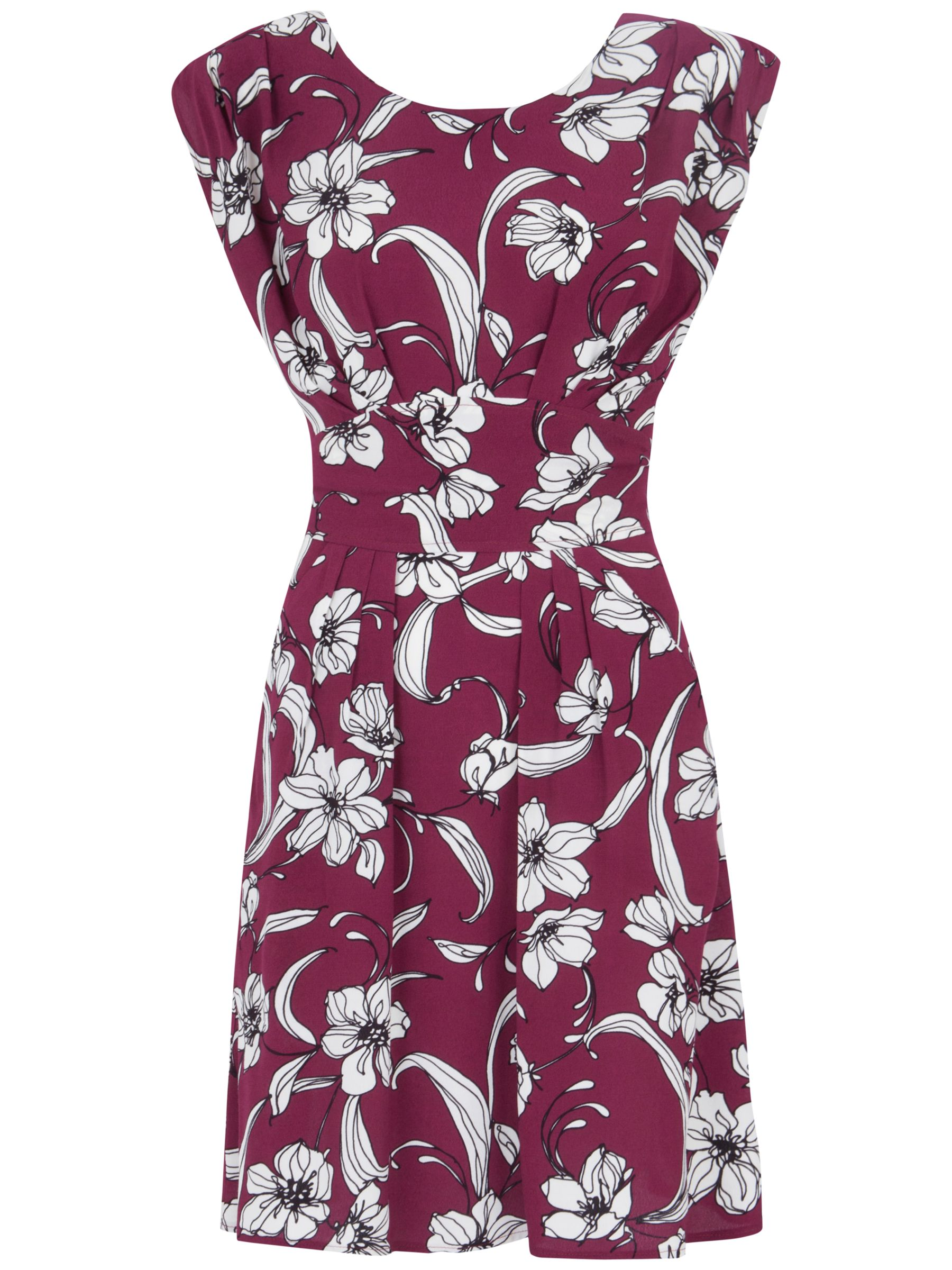 closet floral tie back dress burgundy, closet, floral, tie, back, dress, burgundy, 14|12, clearance, womenswear offers, womens dresses offers, winter sun, women, inactive womenswear, new reductions, womens dresses, special offers, 1781341