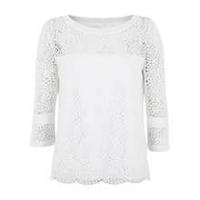 Buy Mint Velvet Spiral Lace Shell Top, Ivory Online at johnlewis.com