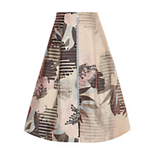 Buy Whistles Mya Floral Zip Skirt, Multi Online at johnlewis.com